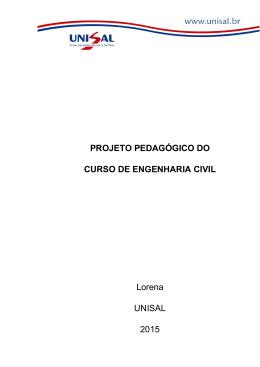 PROJETO PEDAGÓGICO DO CURSO DE ENGENHARIA
