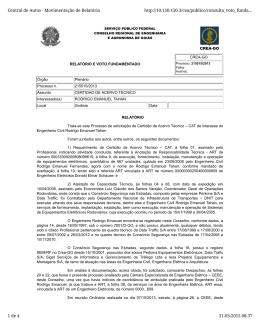 Central de Autos - Movimentação de Relatório http://10.150.150.3