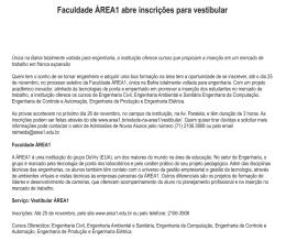 Faculdade ÁREA1 abre inscrições para vestibular