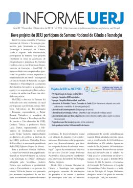 Nove projetos da UERJ participam da Semana Nacional de Ciência