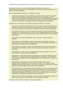 Declaração Ubuntu sobre Educação, Ciência e Tecnologia para o