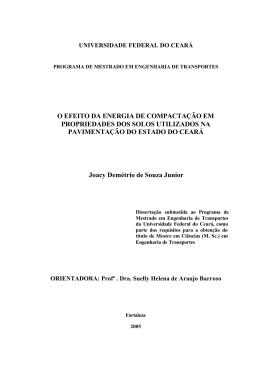 O EFEITO DA ENERGIA DE COMPACTAÇÃO EM PROPRIEDADES