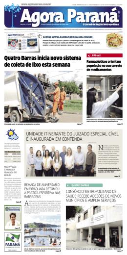 Quatro Barras inicia novo sistema de coleta de lixo