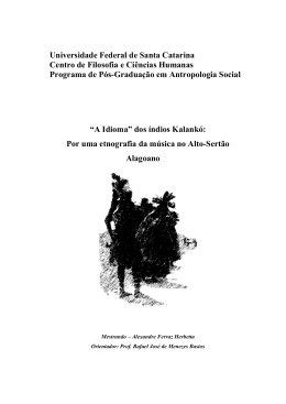 """""""A Idioma"""" dos índios Kalankó - Comunidade Virtual de Antropologia"""