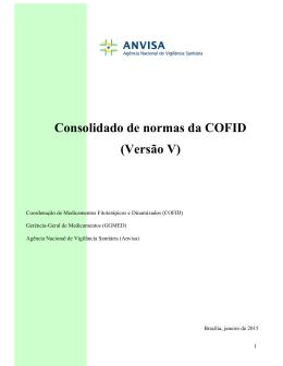 Consolidado de normas da COFID (Versão V)