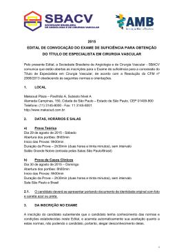 2015 edital de convocação do exame de suficiência para