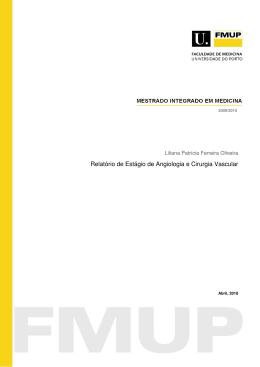 Relatrio de Estgio de Angiologia e Cirurgia Vascular