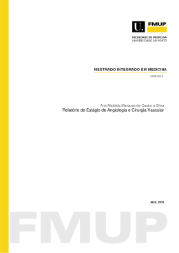 Relatório de Estágio de Angiologia e Cirurgia Vascular