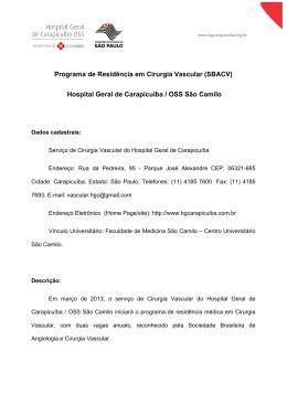 Programa de Residencia Medica Cirurgia Vascular