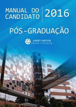 Manual do Candidato - Hospital Israelita Albert Einstein