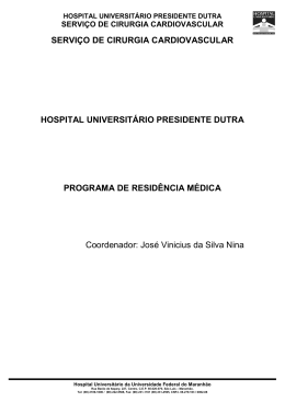 SERVIÇO DE CIRURGIA CARDIOVASCULAR HOSPITAL