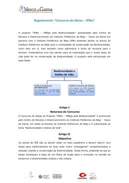 "Regulamento ""Concurso de Ideias – IPBio"""