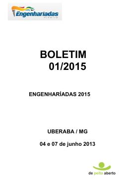 BOLETIM 01/2015 - Engenhariadas Mineiro