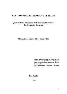 CENTRO UNIVERSITÁRIO NOVE DE JULHO Qualidade