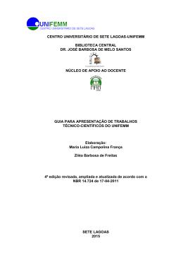 CENTRO UNIVERSITÁRIO DE SETE LAGOAS