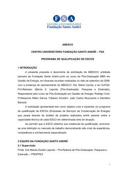 ABESCO CENTRO UNIVERSITÁRIO FUNDAÇÃO SANTO ANDRÉ