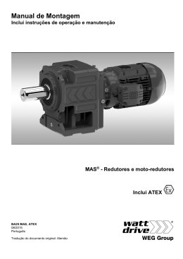 Manual de Montagem - Watt Drive Antriebstechnik GmbH