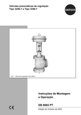 Instruções de Montagem e Operação EB 8065 PT