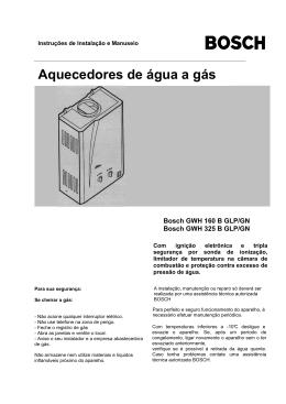 Aquecedores de água a gás