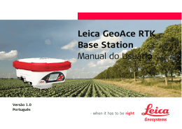 Leica GeoAce RTK Base Station Manual do Usuário