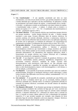 Dicionário de Electricidade