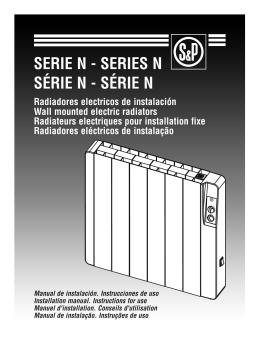 Manual de instalação e instruções de uso