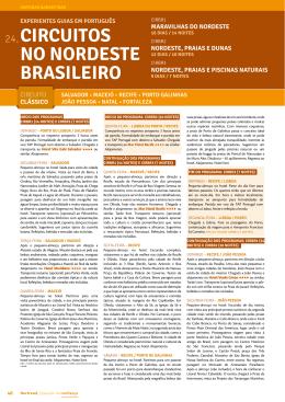 CIRCUITOS NO NORDESTE BRASILEIRO