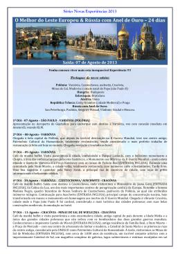 grupo leste europeu e rússia - 07 de agosto 2013