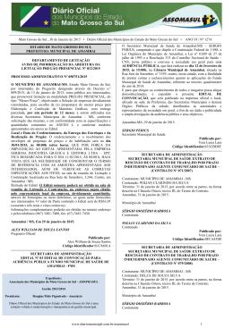 Mato Grosso do Sul , 30 de Janeiro de 2015 • Diário