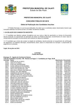 PREFEITURA MUNICIPAL DE CAJATI