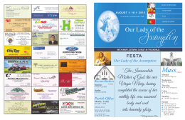 Bulletin 8/16/15 English - Our Lady of the Assumption