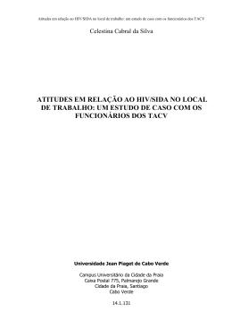 MemóriaCelestina da silva - Universidade Jean Piaget de Cabo