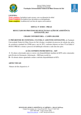 Arquivo - PREAE/UFMS - Universidade Federal de Mato