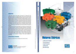 Motores elétricos—Apostila da WEG