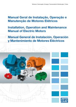 Manual Geral de Instalação, Operação e