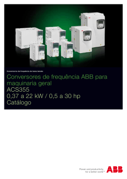 Conversores de frequência ABB para maquinaria geral ACS355 0