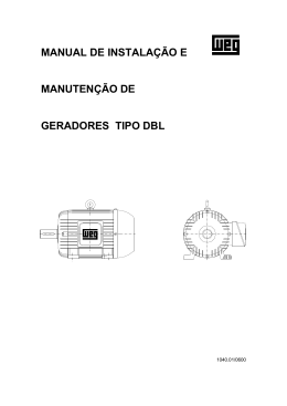 manual de instalação e manutenção de geradores tipo dbl