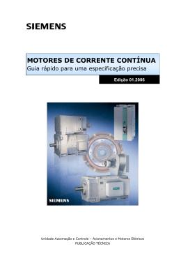 MOTORES DE CORRENTE CONTÍNUA, Edição