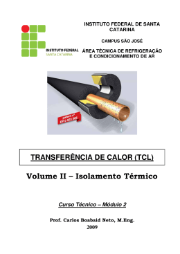 Volume II – Isolamento Térmico - IF