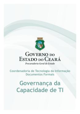 Governança da Capacidade de TI - Procuradoria Geral do Estado