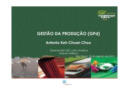 GESTÃO DA PRODUÇÃO (GPd)