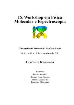 IX Workshop em Física Molecular e Espectroscopia