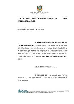exmo. senhor doutor juiz de direito da ª vara da comarca de ribeirão