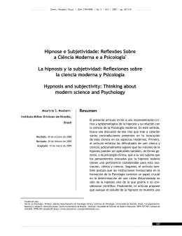 Hipnose e Subjetividade: Reflexões Sobre a Ciência Moderna e a