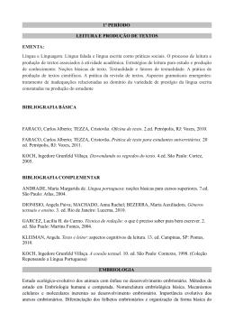 1º PERÍODO LEITURA E PRODUÇÃO DE TEXTOS EMENTA