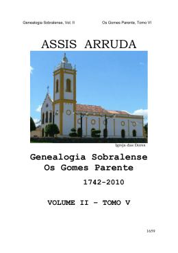 Gomes Parente Tomo X - Genealogia Sobralense