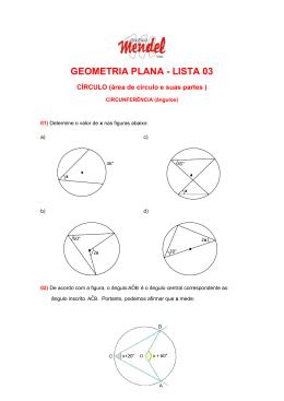 GEOMETRIA PLANA - LISTA 03