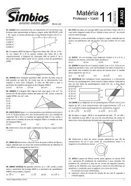 14. SB-14 - Lista 11 - Áreas de figuras planas