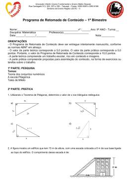 Matemática - Colégio Amorim