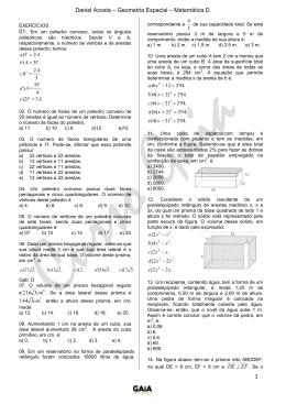 Daniel Acosta – Geometria Espacial – Matemática D 1